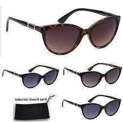 Womens CG Cat Eye Retro Vintage Designer Sunglasses Tortoise
