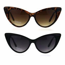 Womens Classic Mod Gothic Cat Eye Plastic Sunglasses