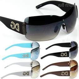 Womens DG Eyewear Fashion Designer Shield Wrap Sunglasses Ar