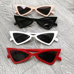 Womens Fashion Vintage Retro Cat Eye Triangle Sunglasses UV4