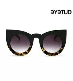 Womens Goth Diva Cat Eye Sunglasses Retro Style Frame Fashio