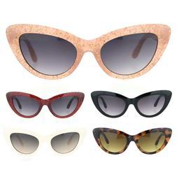 Womens Mod Goth Thick Plastic Cat Eye Fashion Sunglasses