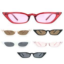 Womens Narrow Owl Shape Plastic Cat Eye Sunglasses