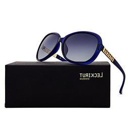 Leckirut Womens Oversized Polarized Sunglasses UV400 Protect