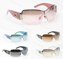 womens oversized sunglasses shield metal eyewear designer