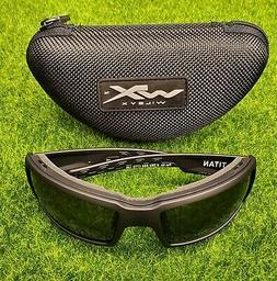 Wiley X WX Titan Sunglasses Titan Grey Lens Matte Black Fram