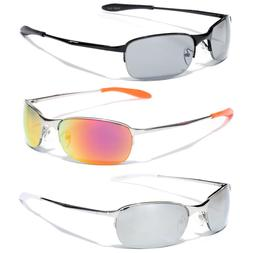 X-Loop Black Silver Gray Metal Frame Sport Sunglasses Neutra