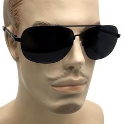XL Extra Wide Frame Big Head Men's Sunglasses Super Dark Len