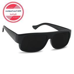 XL Large Super Dark OG Cholo Wide Frame Sunglasses Black Low