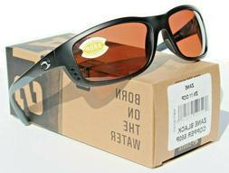 Costa Del Mar Zane Sunglasses, Black, Gray 580P Lens