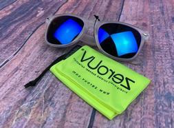 zeroUV ZV-8075-02 Wayfarer Sunglasses, White, 52 mm - Free 2